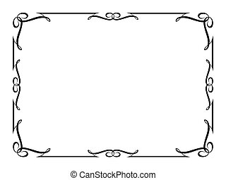 Un marco decorativo ornamental de caligrafía