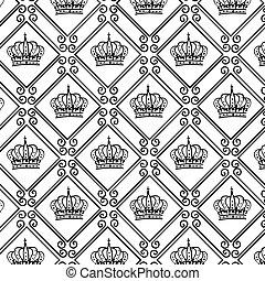 Un marco elegante con corona