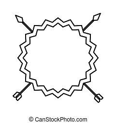 Un marco elegante con flechas