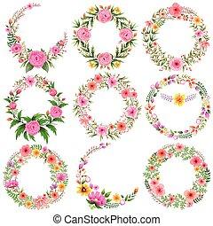 Un marco floral acuarela