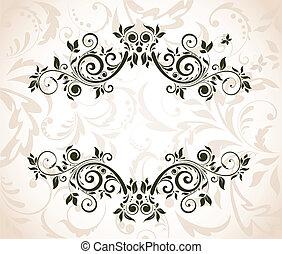 Un marco floral antiguo