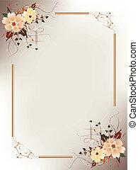 Un marco floral artístico