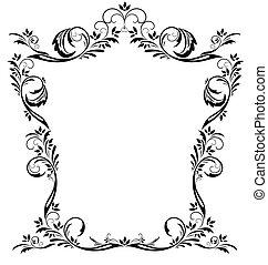 Un marco floral de vector antiguo