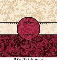 Un marco floral de vinagre