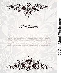 Un marco floral de vinagre. Ilustración de fondo del vector