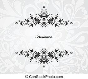 Un marco floral de vinagre. Profundidad del vector