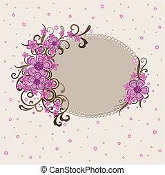 Un marco floral rosa decorativo