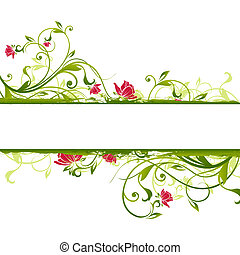 Un marco floral