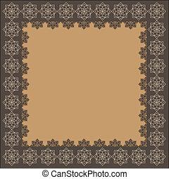 Un marco indio decorativo
