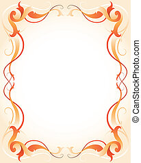 Un marco naranja con rayas
