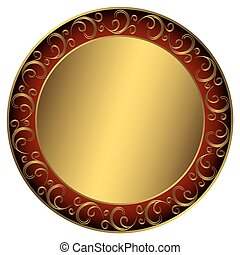 Un marco negro dorado