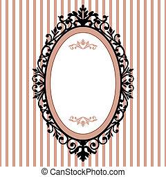 Un marco ovalado decorativo