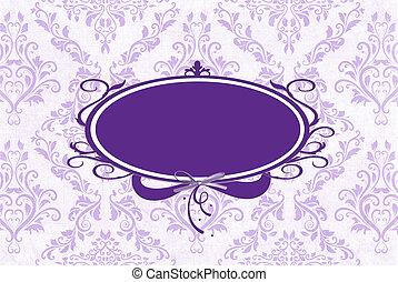 Un marco púrpura en Damasco