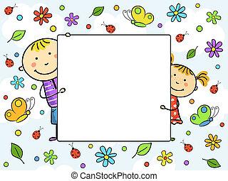 Un marco para niños.