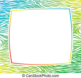 Un marco pintoresco con textura de cebra abstracta