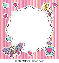 Un marco rosa