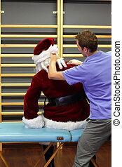 Un masaje de Santa Claus