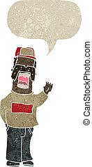 Un mecánico de dibujos animados