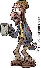 Un mendigo de dibujos animados