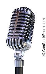 Un micrófono antiguo