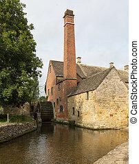 Un molino viejo en el distrito Cotswold de Inglaterra