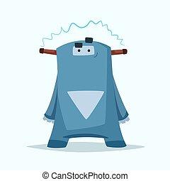 Un monstruito gracioso. Ilustración de vectores.