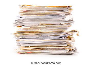 Un montón de archivos