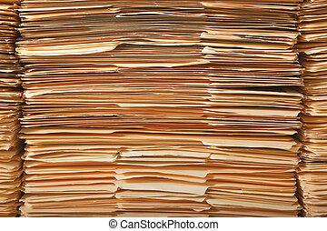Un montón de archivos legales
