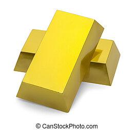 Un montón de barras de oro