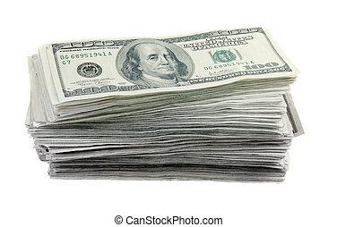 Un montón de billetes de 100 dólares