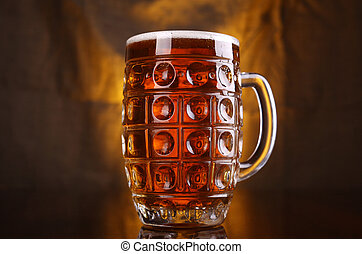 Un montón de cerveza ligera