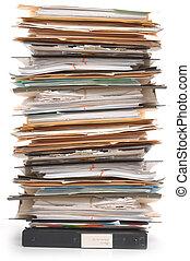 Un montón de documentos