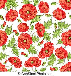 Un montón de flores de amapola.