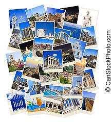 Un montón de fotos de viajes de Grecia