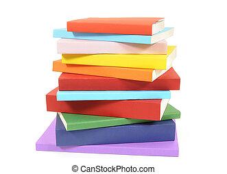 Un montón de libros coloridos de bolsillo