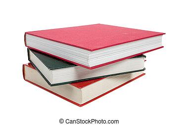 Un montón de libros de texto en blanco