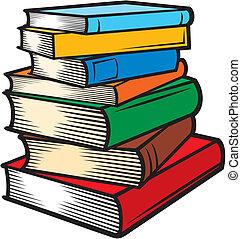 Un montón de libros.