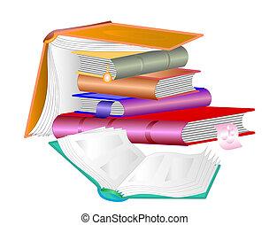 Un montón de libros