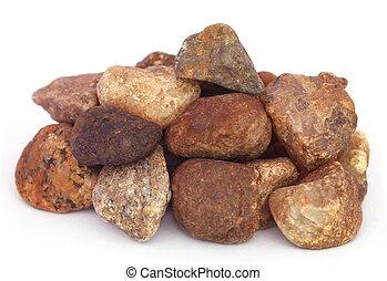 Un montón de piedras como material de construcción