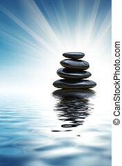 Un montón de piedras zen