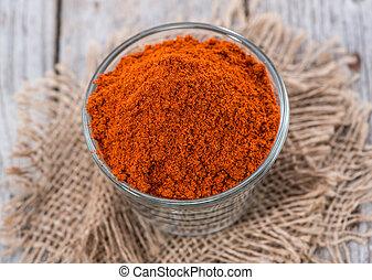 Un montón de polvo de paprika