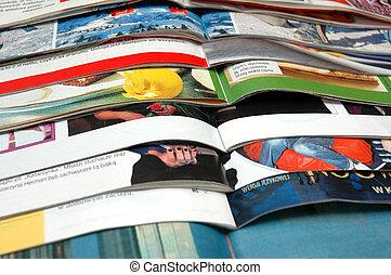 Un montón de revistas