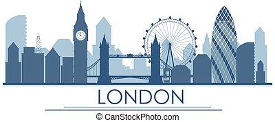 Un monumento de Londres en Inglaterra en azul