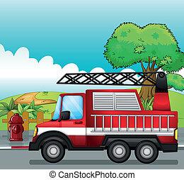 Un motor de incendio