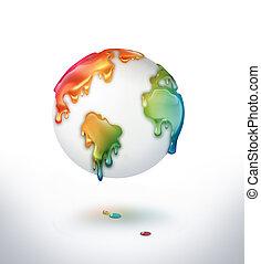 Un mundo colorido