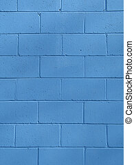 Un muro de hormigón azul
