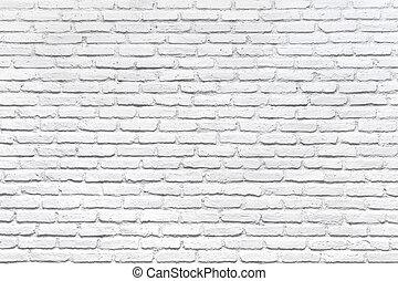 Un muro de ladrillo blanco para un fondo