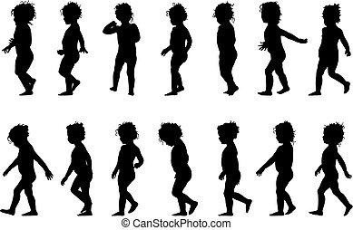 Un niño caminando