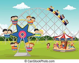Un niño de dibujos animados en el carnaval