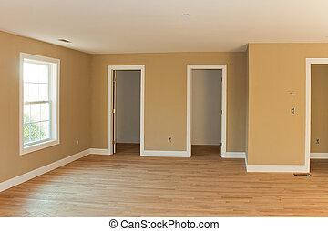 Un nuevo interior de la habitación